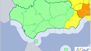 La provincia estará en alerta amarilla por lluvia hasta las 15 horas del sábado.