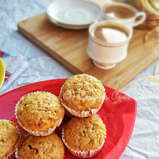Carrot and Oat Muffins.