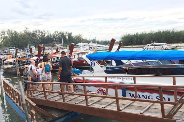 Departure from Wang Sai pier in Ao Nang in Krabi