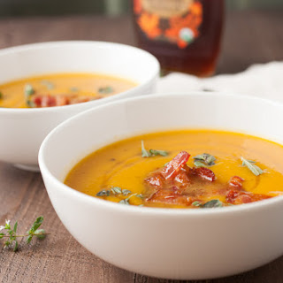 Butternut Squash Soup with Maple Bacon