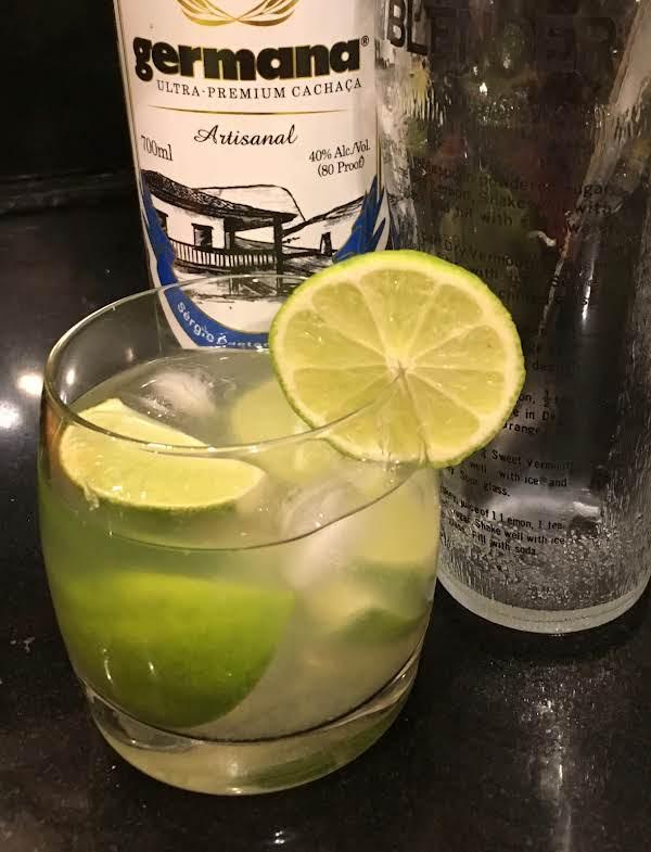 Caipirinha (brazilian Drink) With Lime.