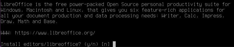 Install LibreOffice on FreeBSD [Desktop Installer]. Source: nudesystems.com