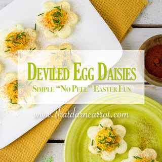 "Simple ""No Peel"" Daisy Deviled Eggs for Easter"