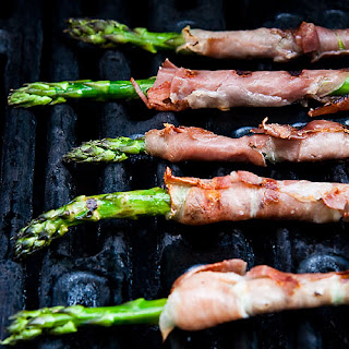 Grilled Prosciutto Wrapped Asparagus.