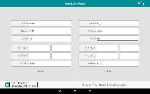 Gleitsicht-Navi Screenshot
