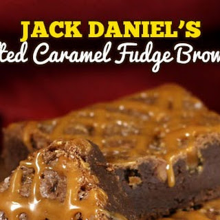 Jack Daniel's Salted Caramel Fudge Brownie.