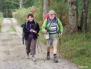 Photo: Voici Jacqueline et Michel partis de Suisse que je retrouve et avec qui je marcherais en ce dimanche ,merci à vous 2....pour cette journée en votre compagnie..