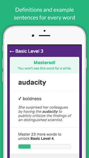 Vocabulary Builder app (apk) free download for Android/PC/Windows screenshot