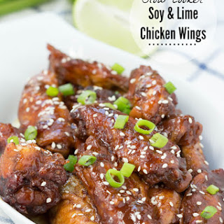 Slow Cooker Soy and Lime Chicken Wings