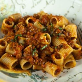Pasta With Lentil Bolognese.