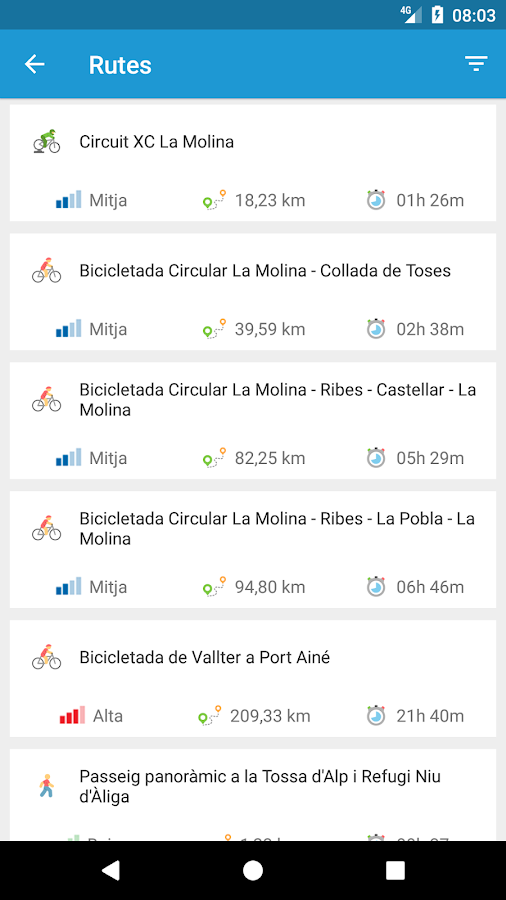 La Molina App- screenshot