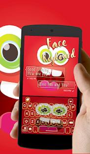 Funny Face Go Keyboard theme - náhled