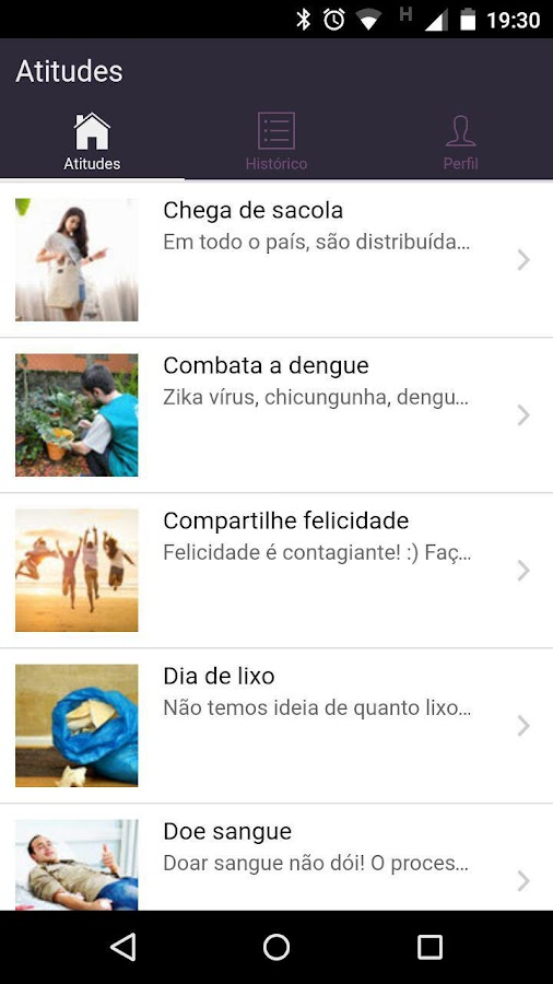 GoforGood: captura de tela