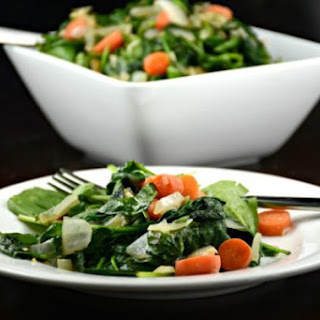 Sauteed Spinach and Carrots.