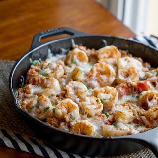 Cajun Shrimp Quinoa Casserole.