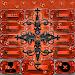 Orange Gothic Cross Dialer theme Icon