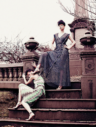 Fashion editorial featuring looks from Missoni and Lutz Morris.