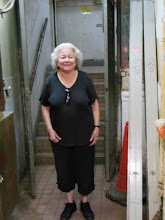 Photo: Unbelievable. Leslie at the back stairs of the Chungking Mansions