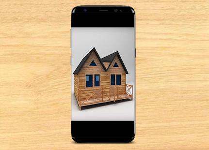 wooden house design minimalist - náhled