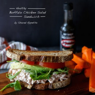 Healthy Buffalo Chicken Salad Sandwich.