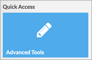 Quick Access Advanced Tools button
