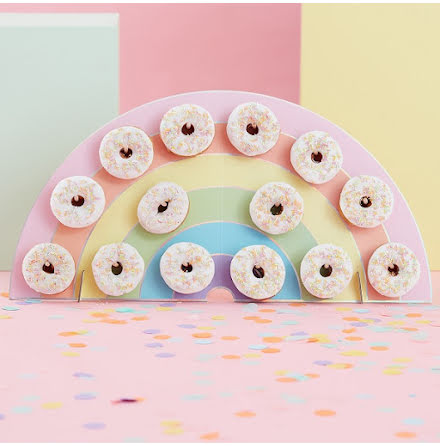 Donut wall - Regnbåge Pastel party