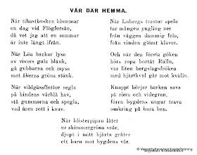 Photo: Dikt av folkskolläraren Ingemar Hasselblad 1920