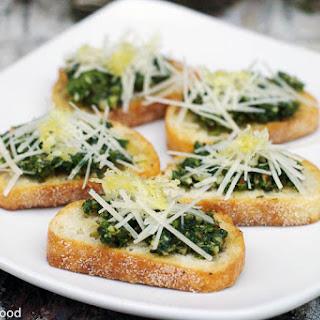 Mizuna & Walnut Pesto Crostini