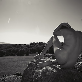 On the rock by Ukri Manu - Nudes & Boudoir Artistic Nude ( rock, nudism, nature, erotic, nude, man, body, male )