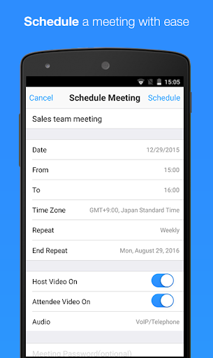 ZOOM Cloud Meetings 4.1.35374.1217 screenshots 5