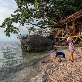 Jellyfish by Geoffrey Wols - Babies & Children Toddlers ( toddlers, jellyfish, children, beach, playing, girl, boy, water,  )