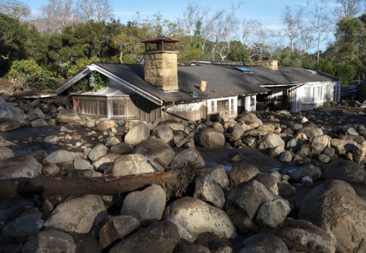 A home on Glen Oaks Road damaged by mudslides in Montecito, California, US, January 10, 2018.