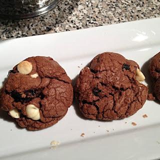 Double Chocolate Plum Cookies.