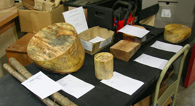 Photo: Some nice wood, large and small, in the Silent Auction
