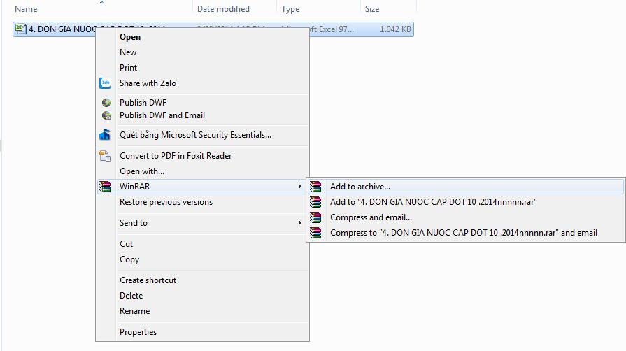 TH 1 10] Không đính kèm được file dự toán khi gửi qua Gmail