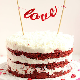 Red Velvet Coconut Cake with Coconut Cream Cheese Frosting Recipe