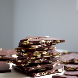 Salted Dark Chocolate Pumpkin Seed Bark.