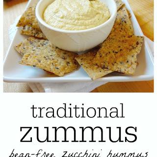 Traditional Zummus (Bean-Free Zucchini Hummus)