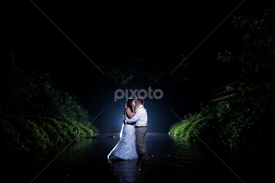 River by Lood Goosen (LWG Photo) - Wedding Bride & Groom ( wedding photography, wedding photographers, wedding day, weddings, wedding, bride and groom, wedding photographer, bride, groom, night shoot, bride groom )
