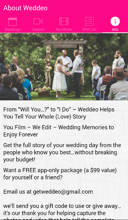Weddeo- DIY Wedding Video- screenshot
