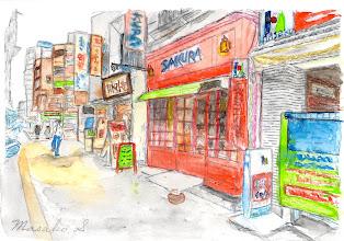 Photo: 17-ケーキ屋さん sakura  杉岡さんの絵はがきはこちらからご購入頂けます。 http://artgoods.creativesmile.info/products/list.php?category_id=82