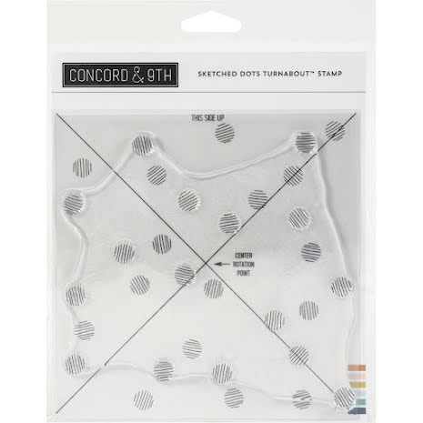 Concord & 9th Clear Stamps 6X6 - Sketched Dots Turnabout