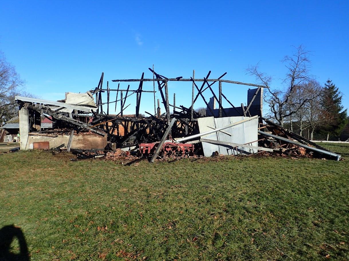 La ferme des Ebourbettes victime d'un incendie la nuit dernière