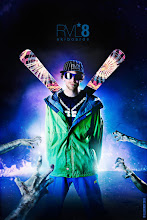 """Photo: Dave Lynam - DLP Pro Model Poster The penultimate from our poster series for Revel8, meet Dave Lynam the """"Zombie-Brain-Bashing Skiboard Superstar"""""""