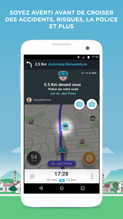 waze gps cartes trafic navigation temps r el applications android sur google play. Black Bedroom Furniture Sets. Home Design Ideas