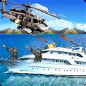 gunship helicopter strike war icon