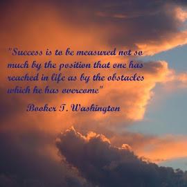 Booker T. Washington quote by Rob Bradshaw - Typography Captioned Photos ( captioned photo, booker t. washington quote, illustration, typography, success )