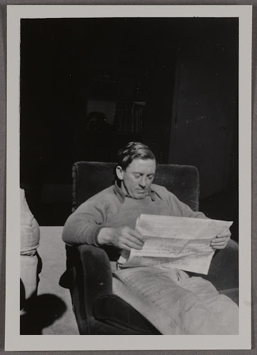 A man sitting in an easy chair