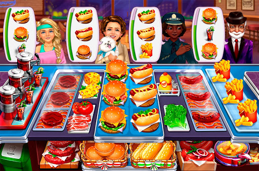 Hellu2019s Cooking: crazy burger, kitchen fever tycoon apkdebit screenshots 1