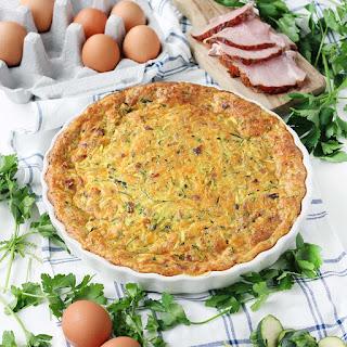 Crustless Ham and Zucchini Quiche Recipe